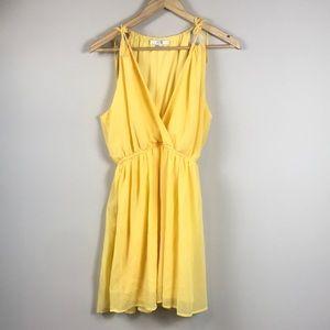 Canary Yellow Grecian Inspired Flowy Dress